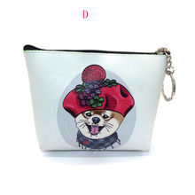 coin purse Women Girls Dog Printing Snacks Coin Purse Change Pouch Key Holder porte monnaie femme purse(China)