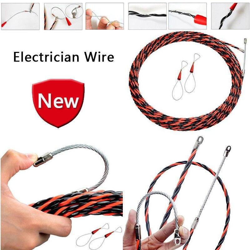 Tensor de Cable eléctrico 5/10/15/20/M Dispositivo de roscado electricista Cable de alambre herramienta de construcción de plomo
