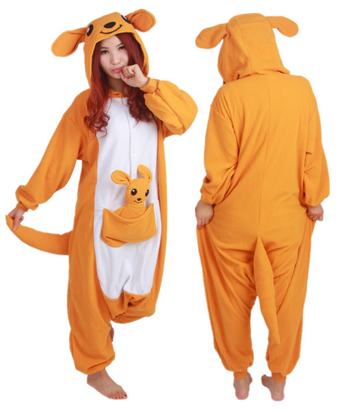 Hot sale Kangaroo onesies Pajamas Cartoon costume cosplay Pyjamas Adult  Animal Onesies with Kangaroo toy bcb6714a2