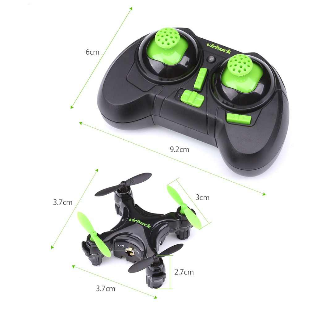 Virhuck Cx-10D Mini Drone RC Quadcopter, Pocket Hand Blade Nano Helicopter Intelligent Fixed Altitude RC Aircraft Helicopter Toy