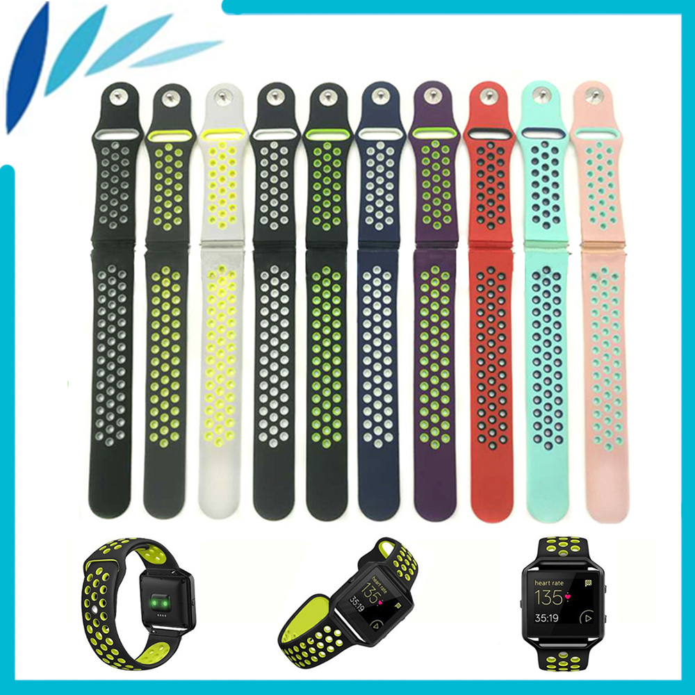 Silicone Rubber Watchband for Fitbit Blaze Smart Fitness Watch Strap Band Quick Release Loop Wrist Belt Bracelet Black Blue Red silicone rubber watchband quick release watch band 17mm 18mm 19mm 20mm 21mm 22mm universal strap wrist bracelet black blue red
