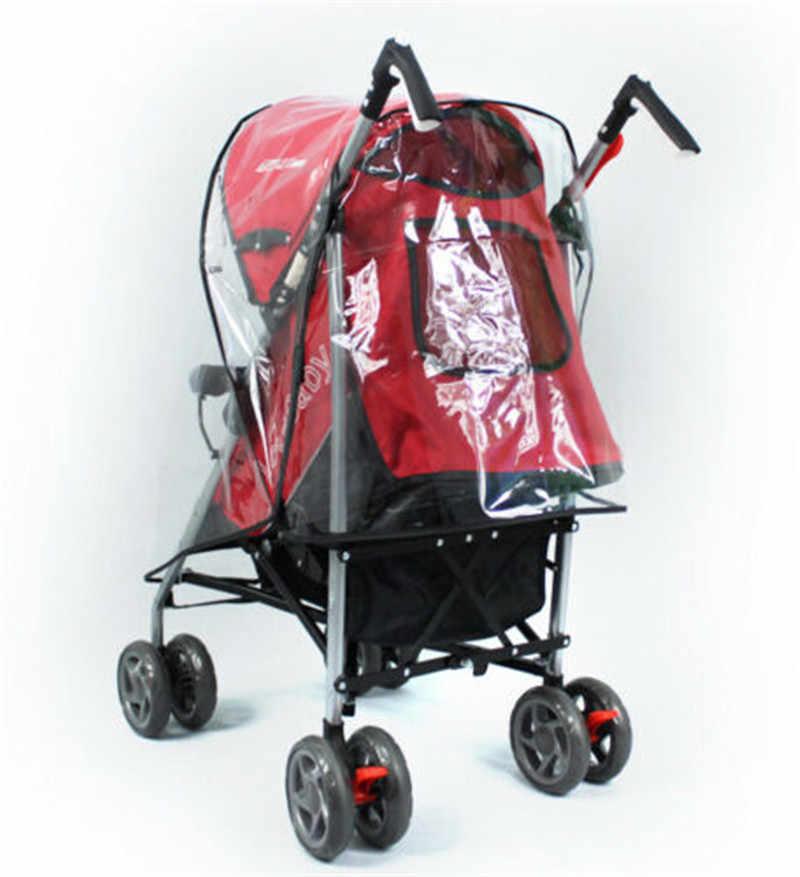 2019 Hot Sale Universal Rain Cover Buggy Stroller Jogger Rain Cover Dust Windbreak Anti-UV Good Transparency High Quality Red