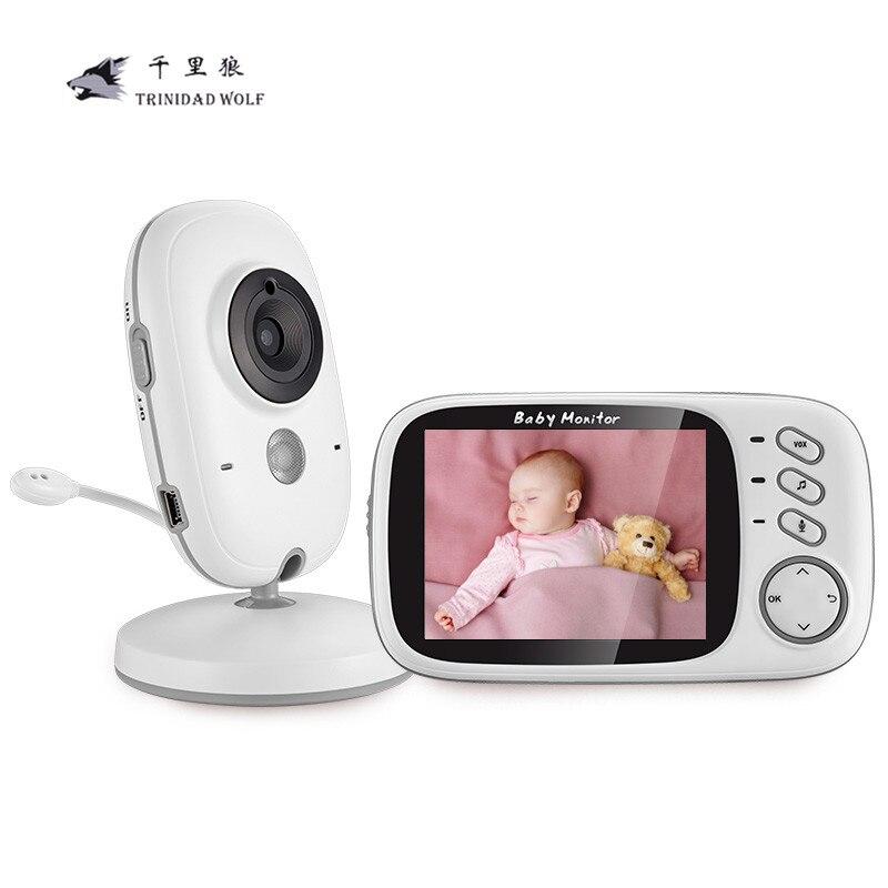 3,2 pulgadas inalámbrico Video Monitor del bebé del Color Alta Resolución bebé niñera cámara de seguridad visión nocturna temperatura