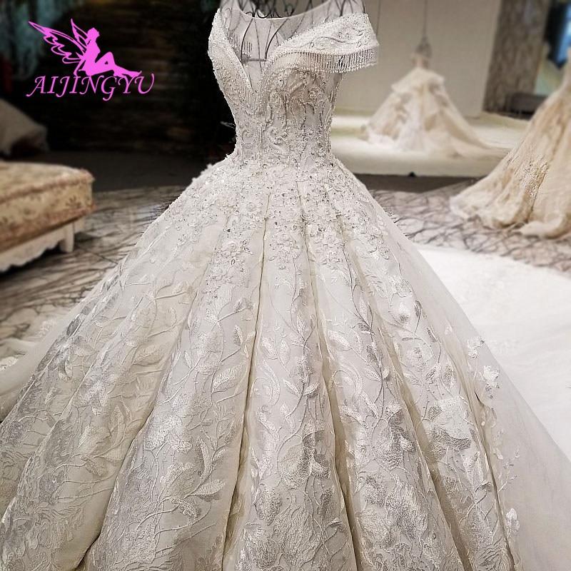 AIJINGYU Trouwjurken Collectie Eenvoudige Bruidsjurken Ivoor Beste Sexy Goedkope Uk Gown Plus Size Moslim Trouwjurk