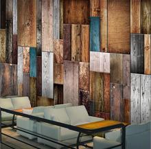 3D wallpaper Non-woven Wood Wall
