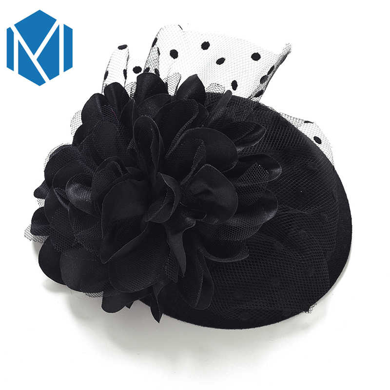 Fascinator Cap Hair Clips Hairpins Ladies Flower Top Hat Party Cocktail Rose Dot Veiling Formal Elegant French Lace Headwear