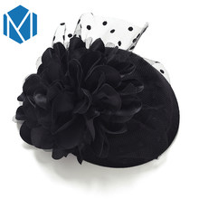 Fascinator Cap Hair Clips Hairpins Ladies Flower Top Hat Party Cocktail Rose Dot Veiling Formal Elegant French Lace Headwear()