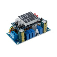 5A MPPT Solar Panel Controller DC-DC Step-down CC/CV Charging Module Display LED Regulator Controllers ootdty led 5a adjustable power cc cv step down charge module driver ammeter voltmeter
