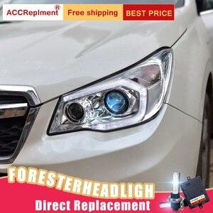 Image 4 - 2 adet LED farlar Subaru Forester 2014 2018 için led araba ışıkları melek gözler xenon HID kiti sis farları LED gündüz farları