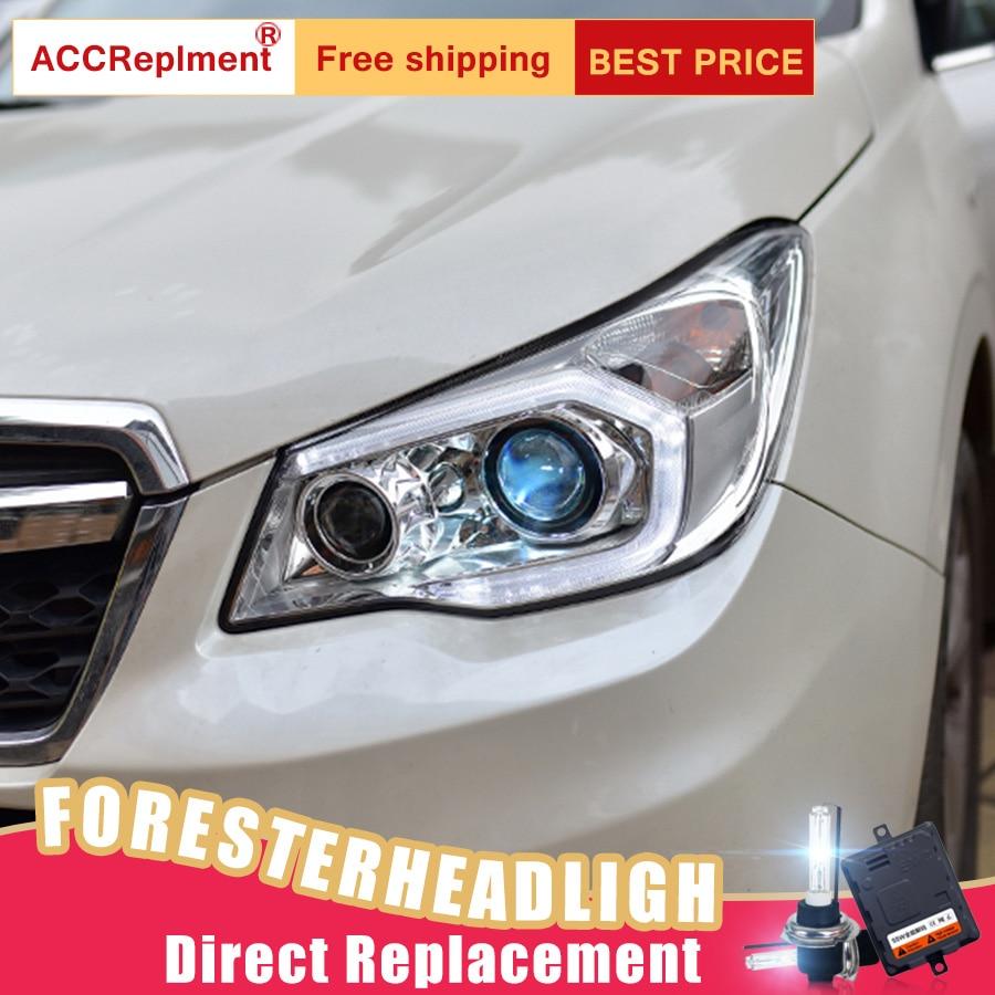Image 4 - 2Pcs LED Headlights For Subaru Forester 2014 2018 led car lights Angel eyes xenon HID KIT Fog lights LED Daytime Running LightsCar Light Assembly   -