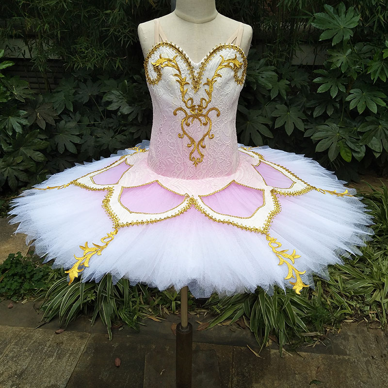 Dance Favourite New Arrival Women and Girl Professional Ballet Tutu Pink Bodice Ballet Dance Costume Ballerina Dance Tutu