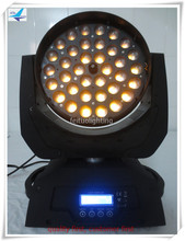 Free Shipping(6pcs/lot) best selling RGBWA UV zoom moving head led wash 36x18w