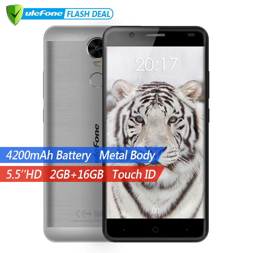 Ulefone Tiger 4G Touch ID Mobile Phone 5 5 HD MTK6737 Quad Core Android 6 0