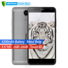 "Ulefone Tigre 4G Tactile ID Mobile Téléphone 5.5 ""HD MTK6737 Quad Core Android 6.0 2 GB RAM 16 GB ROM 8MP Grosse batterie Téléphone Portable"