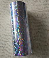 Hot Stamping Foil Holographic Foil Broken Glass Hot Press On Paper Or Plastic Silver Color 16cm
