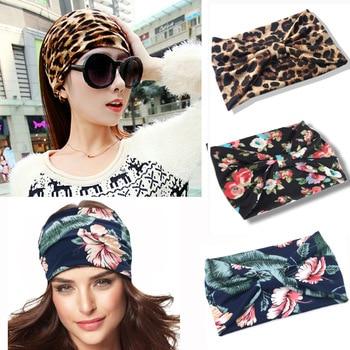 2019 Bohemia Wide Cotton Headwear Stretch Women Headbands Headpiece Headwrap Turban Bandage Hair Bands Bandana Fascinator