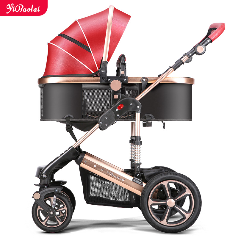 baby stroller 3 in 1 fashion style foldable like high landscape stroller For Children Buggy Baby Car Light Weight stroller carry 2016 portable light easy carry fashion children baby stroller four wheels foldable stroller carry bag 4 color for 0 36 month
