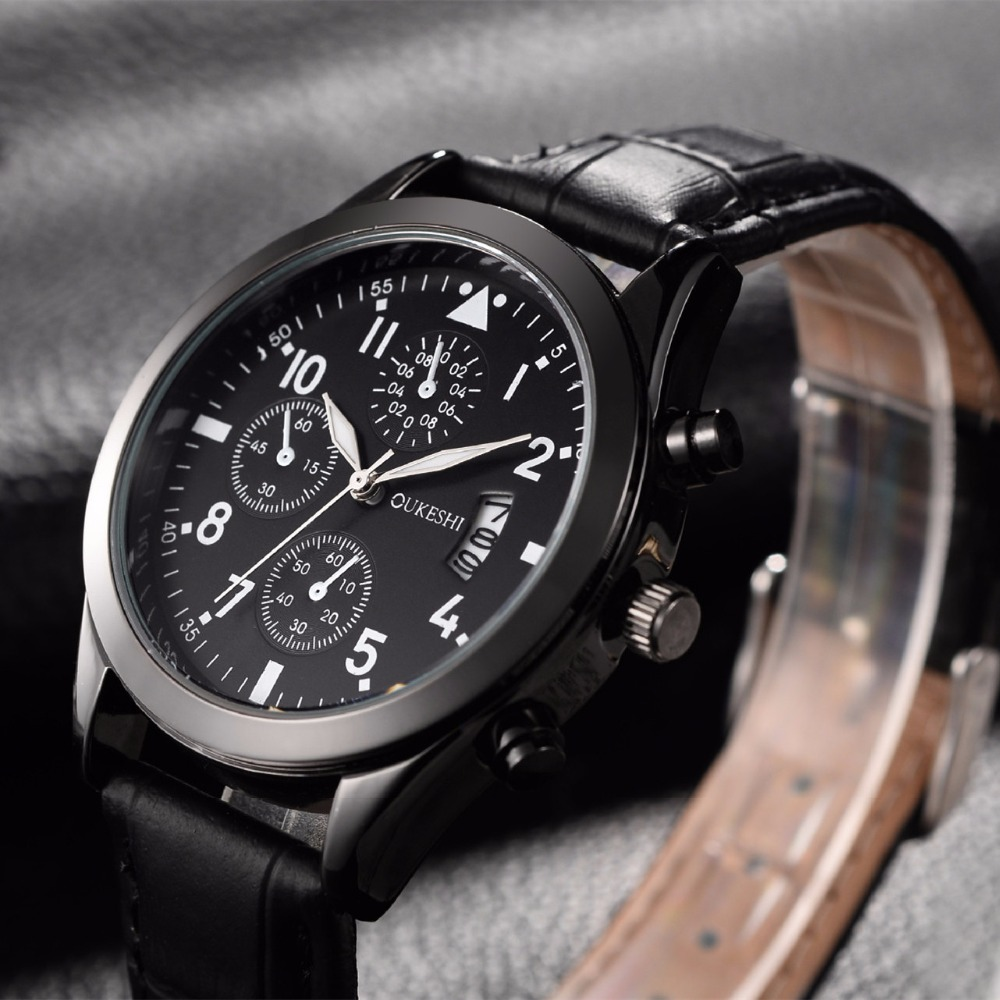 Men Watches Top Brand Luxury Leather Strap Sports Army Military Quartz Watch Men Wrist Watch Clock Men's relogio masculino 2017 megir men s military sports watches fashion luxury top brand quartz wrist watch men leather strap clock male relogio masculino