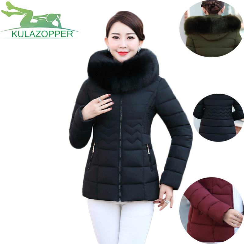 Women's short section Cotton coat Large size New fashion hooded large fur collar down jacket winter female parka outwear LX169 winter feather cotton women outwear long section thick section slim hooded coats large fur collar large size down jacket lx165