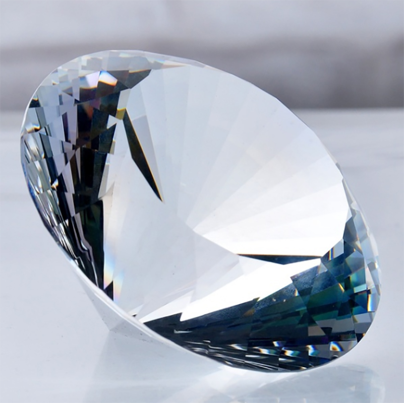 100/120/150/200mm 1pcs Mix Color Crystal Diamond Shape Paperweight Glass Gem Display Ornament Art Craft Material Gifts