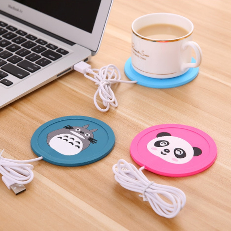 Cartoon 5V USB Warmer Silicone Heater for Mug Coffee Hot Drinks Beverage Cup Mat Pad stainless steel thermos with handle insulate bpa free thermal coffee mug for hot and cold drinks kids vacuum mug travel cup