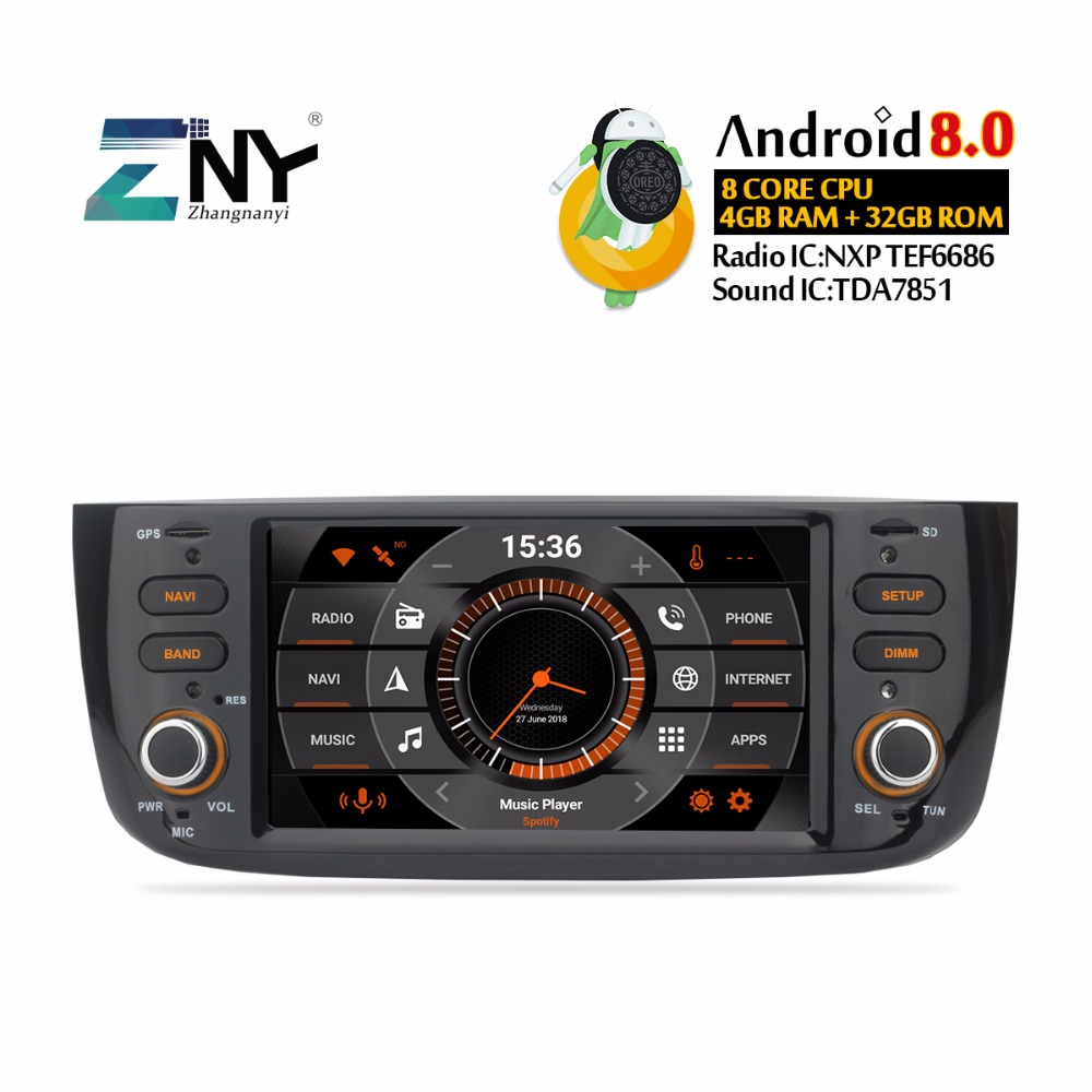 Android Car Radio For Grande Punto Linea 2012-2015 Multimedia Audio Video Player FM RDS WIFI GPS Navigation Stereo Gift Camera