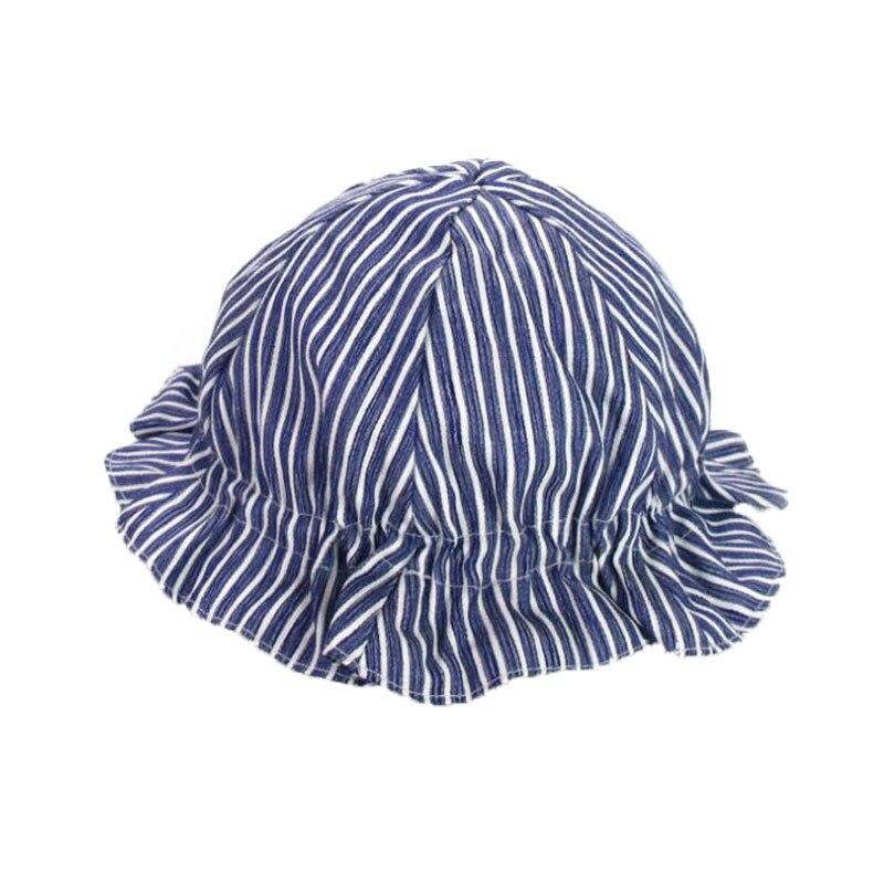 Child Unisex Dome Elastic Hat Stripe Cotton Fisherman Spring Beach Hat M6024 Boys Girls Kids Summer Child Cap Bucket Hat 2018