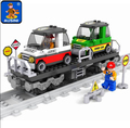 Model building kits compatible with lego train rails trafic 600 3D blocks Educational model building toys hobbies for children