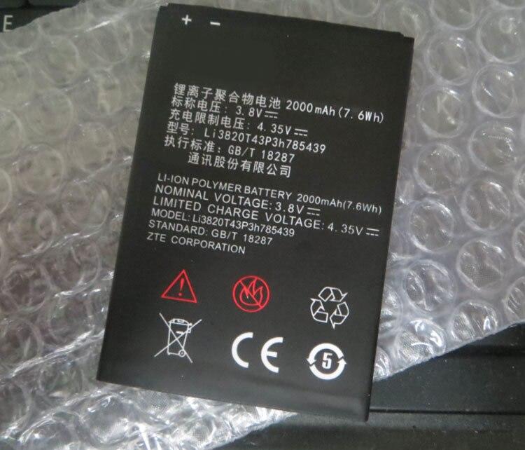 New Original Mobile Téléphone Batterie ZTE Lame L3 Li3820T43P3h785439 3.8 V 2000 mAh Pour ZTE Lame L3 Batterie