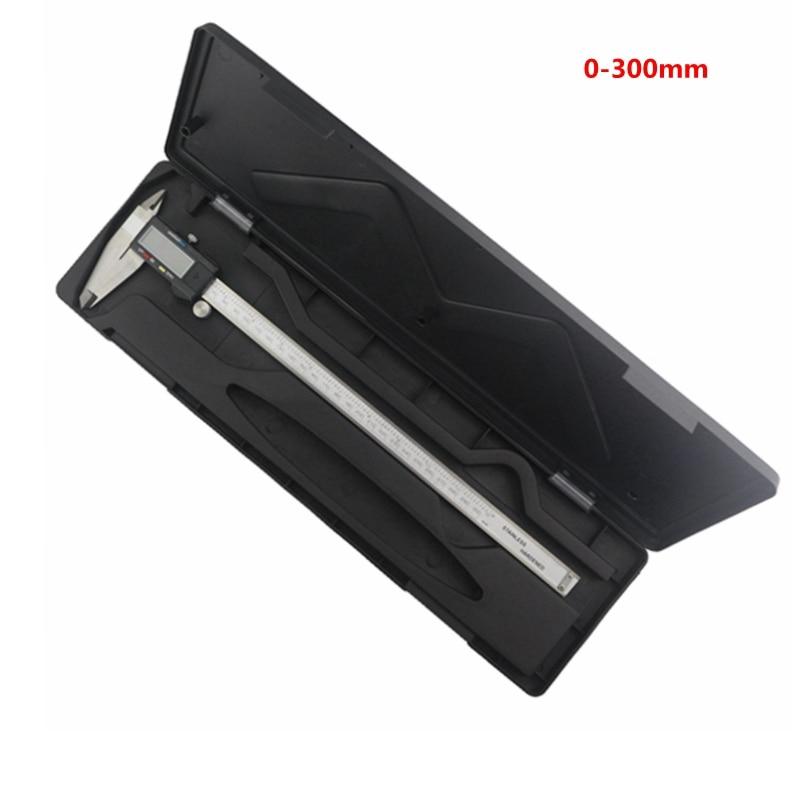 Pied à coulisse numérique 300mm pied à coulisse électronique 12 ''0.01mm mètre de règle/pouce micromètre en acier inoxydable