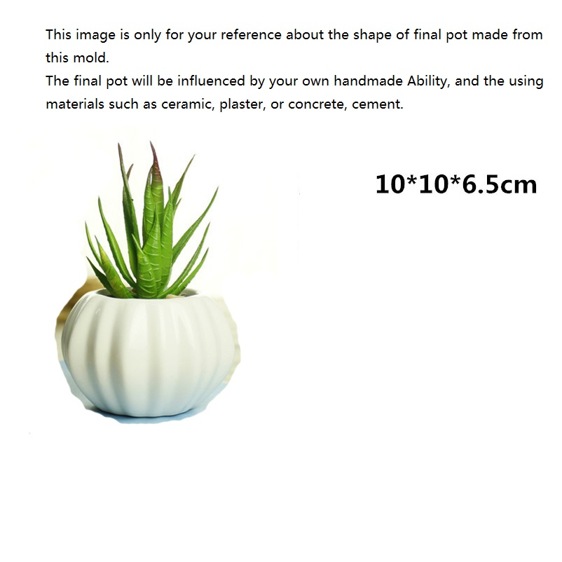 Craft Flower Pot Making Mold Handmade Ceramic Vase Silicone Mould Creative Home Decorating in Clay Molds from Home Garden