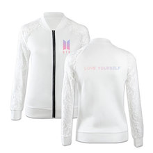 BTS Women Lace Zipper Jacket