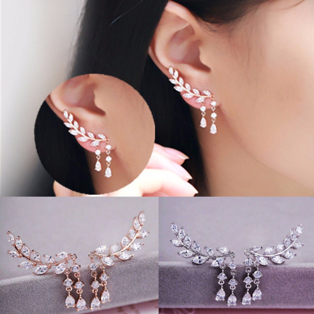 Energetic Cute Girl Red Crystals Love Heart Drop Earrings Temperament Trend Earrings Gold Plated Women Ears Earring Jewelry Fashion With The Best Service Home