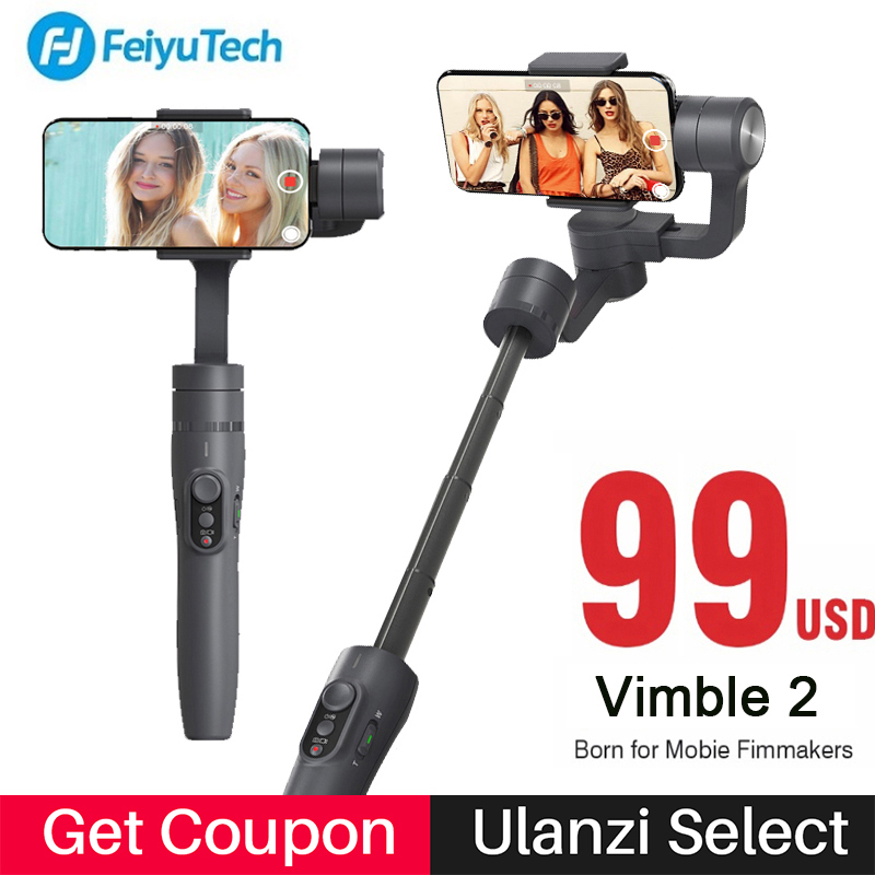 Feiyutech Vimble 2 Handheld Gopro Gimbal Smartphone Stabilizer 3-Axis Gimbal for iPhone Samsung s8 s9 PK Zhiyun Smooth 4 feiyutech fy spg c 3 axis handheld smartphone gimbal stabilizer for xiaomi huawei iphone professional selfie stick pk smooth q