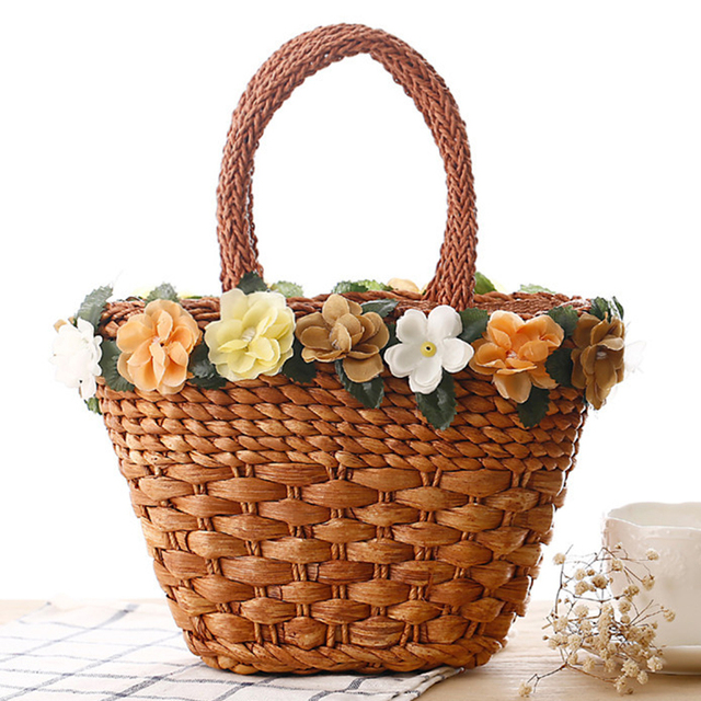 Large Straw Beach Bag Women Big Fashion Woven Straw Handbags ...