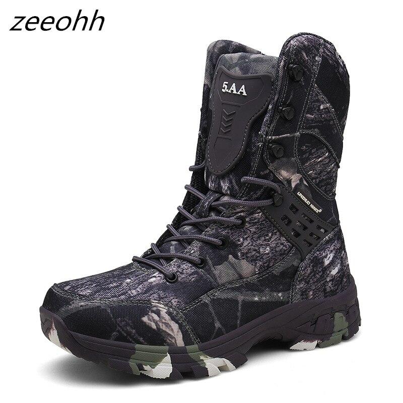 Новые уличные тактические Спортивные мужские ботинки для кемпинга, альпинизма, мужские походные ботинки, горные Нескользящие водонепрониц...