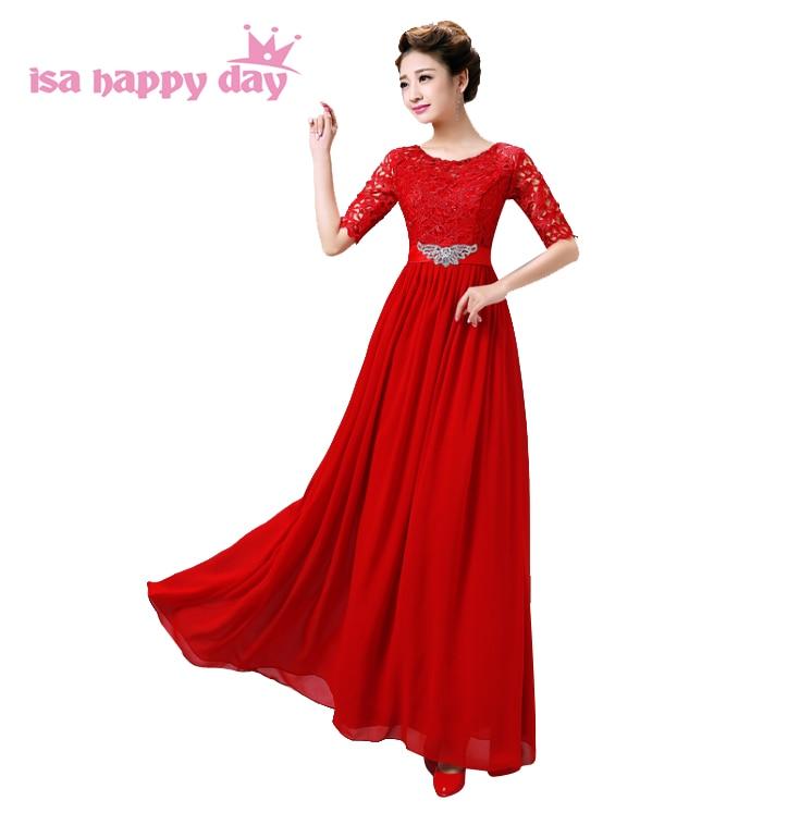 Nuevo vestido de noche de encaje Madre de la novia viste la nueva manera  2018 Vestido largo de la gasa China vestidos para las mujeres con mangas  W3332 31bca4e1250e