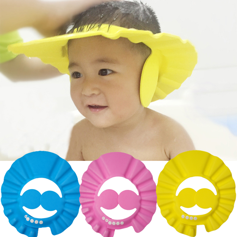 Adjustable Safe Baby Shower Cap Protect Soft Children Kid Shampoo Bath Wash Hair Shield Hat Waterproof Prevent Water Into EarAdjustable Safe Baby Shower Cap Protect Soft Children Kid Shampoo Bath Wash Hair Shield Hat Waterproof Prevent Water Into Ear