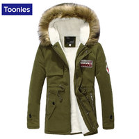 Winter Jacket Men Fashion Fur Hooded Down Coat Zipper Slim Parka Thick Outwear Warm Top Brand