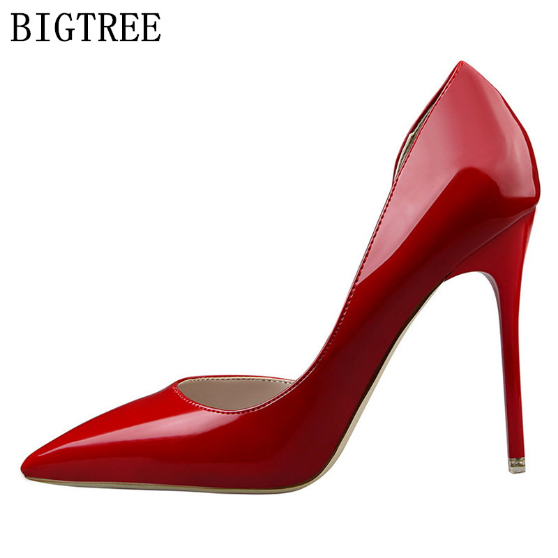 designer wedding shoes woman extreme high heels leather pumps luxury brand bigtree shoes women stiletto salto alto zapatos mujer цены онлайн