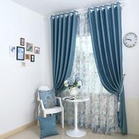 Bedroom Window Curtains Blackout 150 270cm 2pcs Tull 300 263 1pc Window Screening Cortinas Drapes Curtain