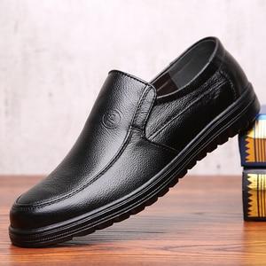 Image 4 - VESONAL 2019 קיץ נוח להחליק על עור אמיתיות גברים נעלי מוקסינים משרד עסקים שמלת פורמליות זכר נעליים