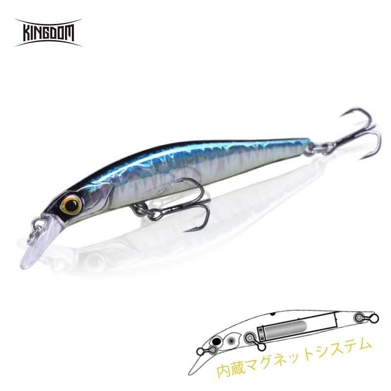Kingdom Artist Jerkbaits Fishing lures 80mm 9g 105mm 18.6g Silence Sinking Minnow High Quality Hard Baits Good Action Wobblers
