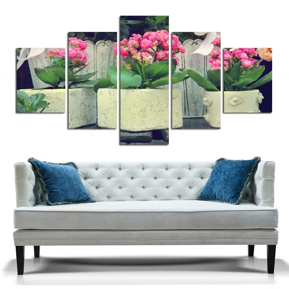 Hd Peinture A La Mode Art Pot Fleur Toile Image Pour Salon Chambre