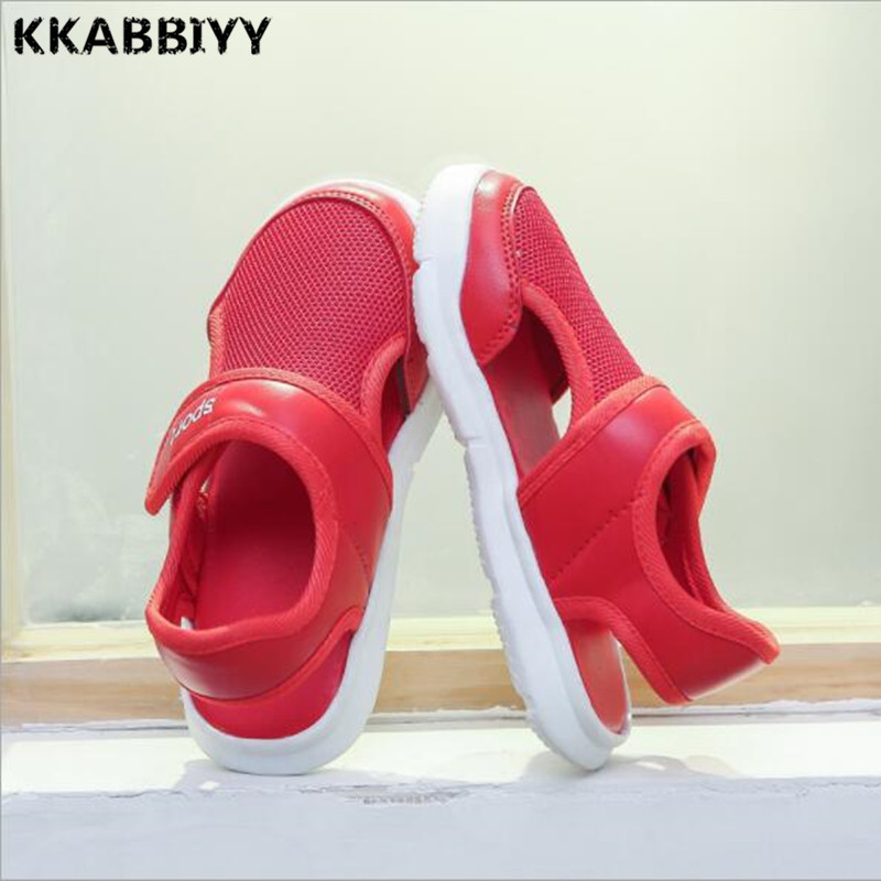 Boys Sandals 2018 Summer New Arrival Moisture Absorption Textile Closed Toe Little And Big Children Sandals Shoes 21-31