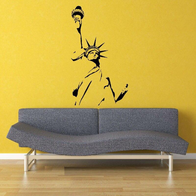 55X100cm Statue of Liberty New York America Wall Art Sticker Decal ...