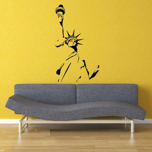 55X100cm Statue of Liberty New York America Wall Art Sticker Decal ...