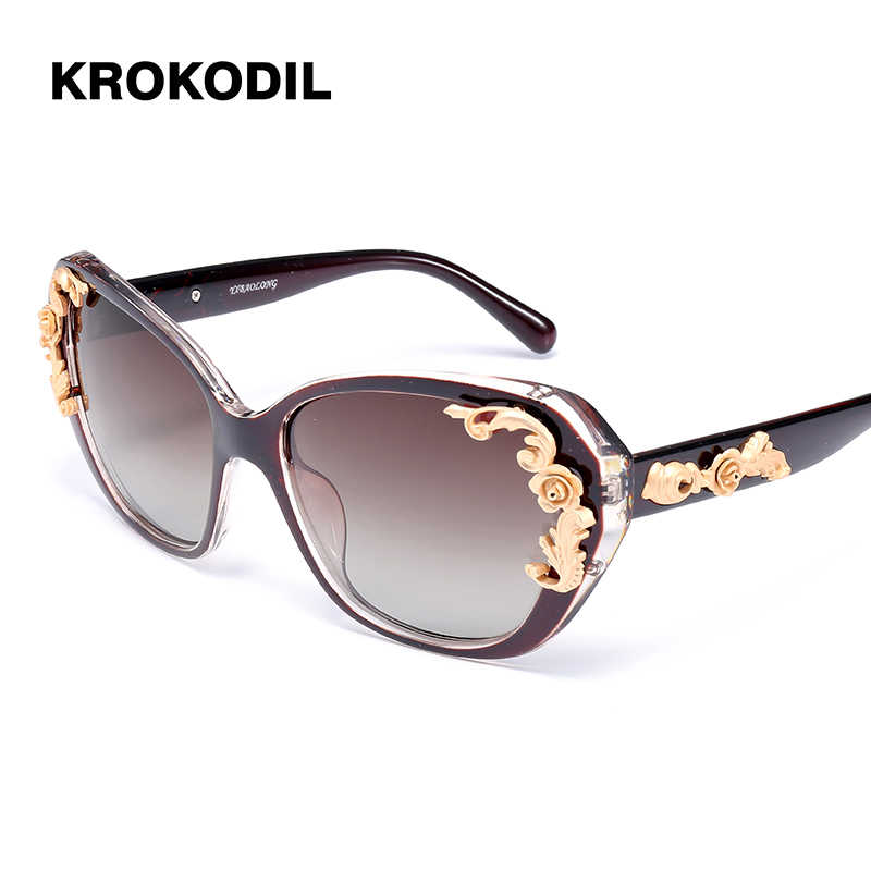 4ce90ea82 Sunglasses Women Polarized UV400 lens Elegant Rhinestone Ladies Sun Glasses  Female Sun glasses Oculos De Sol