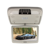 LCD Car Monitor 10 Inch Flip Down TFT Roof Monitors DC 12V Automobile Roof Mount Monitors With MP5 Player