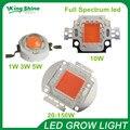 Гидропоники 1 Вт/3 Вт 10 Вт/30 Вт/50 Вт/100 Вт Привело светать чип Epistar Bridgelux чип полный спектр 400nm-840nm для комнатное растение расти
